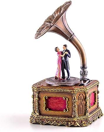 Cajas Musicales Caja de música giratoria de Resina Regalo Navidad/Cumpleaños/Día de San Valentín Joyero Musical: Amazon.es: Hogar