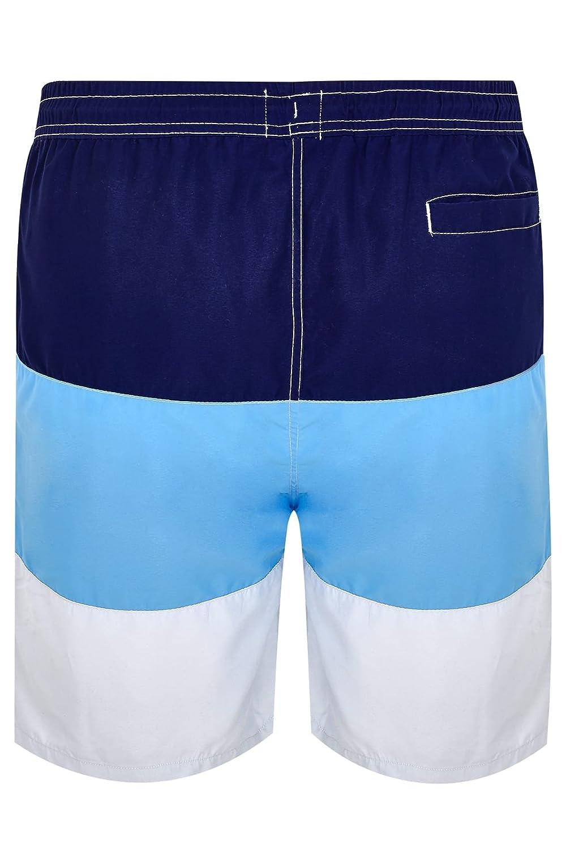 c7686063cd Yours Mens Badrhino Navy, Blue & Grey Colour Block Swim Shorts Extra Large  Sizes L To Size 6XL Multi: Amazon.co.uk: Clothing