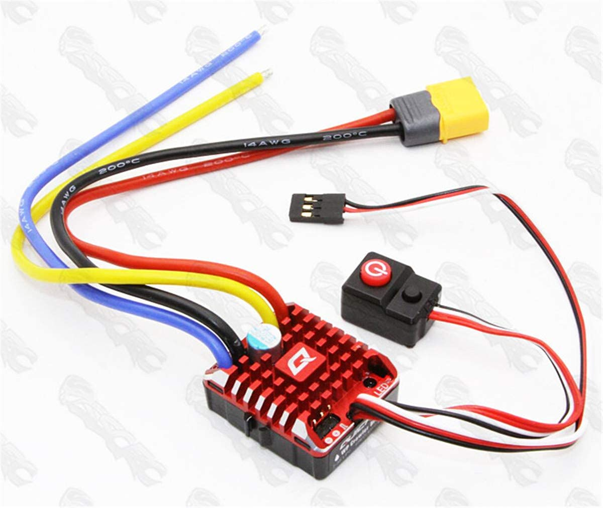 Hobbywing Funshobby QuicRun 1080 Brushed Waterproof 80A ESC Speed Controller RC Crawler with Program Box LED BEC XT60-Plug RC Car 1:10 30112750