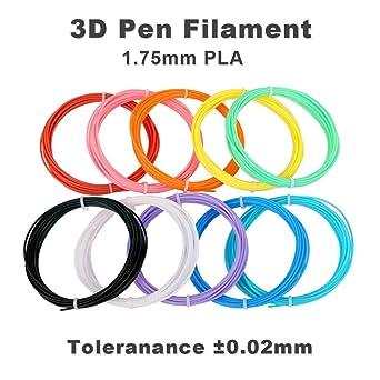 Filamento de PLA para 3D Pen/Pluma 3D 1.75mm Pack de 16 Colores ...