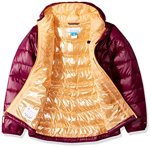 Columbia Girls TurboDown 550 Raspberry Down Gold Hooded Dark Jacket wwrSvqf6x