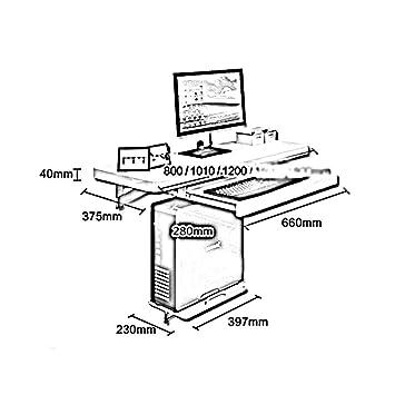 DZYZZ Schreibtisch, Couchtische Wand-Tisch-Schreibtisch mit ...