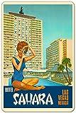 Las Vegas Nevada Hotel Sahara United States America Vintage Metal Plaque