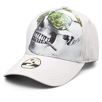 18788548 Ann Lloyd Custom Baseball Cap Cannabis Weed & Skull Printed Baseball Hat  Adjustable Marijuana Trucker Hat