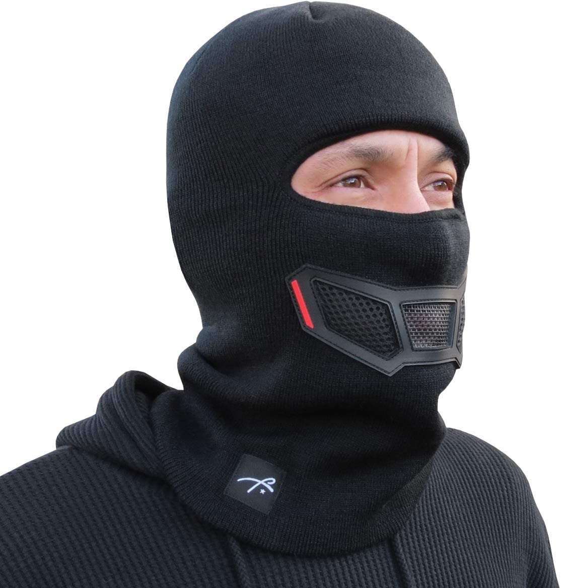 Grace Folly Knit Balaclava Full Face Winter Ski Mask with Vented Mouthpiece