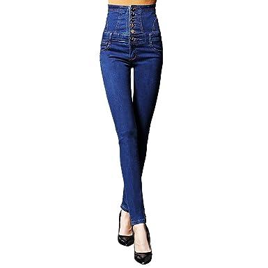 8c6ac6e7af6 Chiffoned High Waist Jeans Women Skinny Denim Pencil Pants Female Plus Size  Vintage Elastic Jeans Women