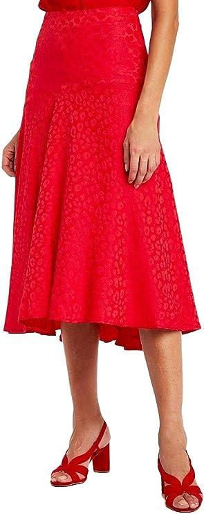 Naf Naf Falda Midi Rojo para Mujer 42 Rojo: Amazon.es: Ropa y ...