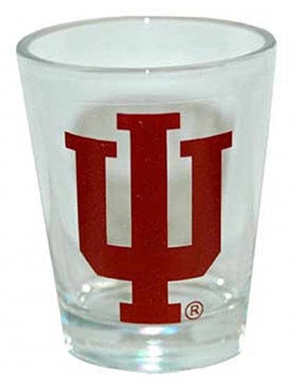Amazon.com: NCAA Indiana Hoosiers logotipo shotglass: Sports ...