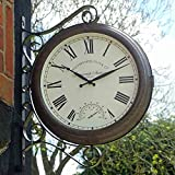 Altuna Smart Solar 5063020–Greenwich Double Sided Station Clock with Thermometer, 38x 38x 5cm, White