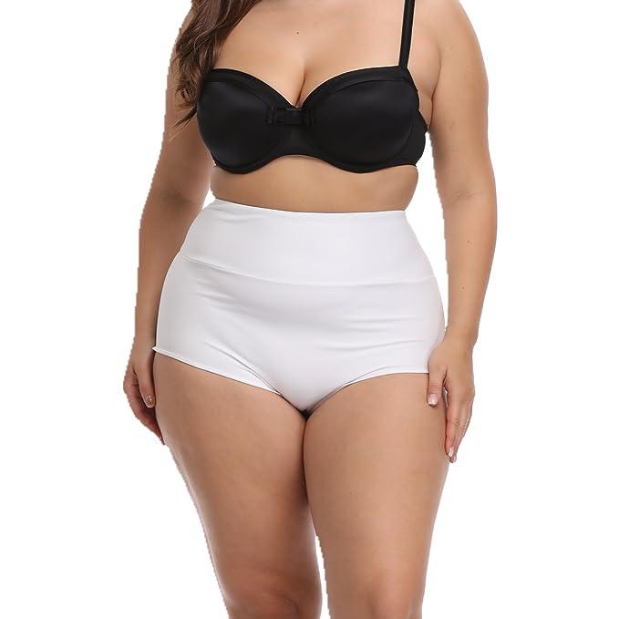 ff1565f5093 CENG MAU Women s Vintage Retro Brazilian Ruched Butt High Waisted Bathing Bikini  Bottoms(WT