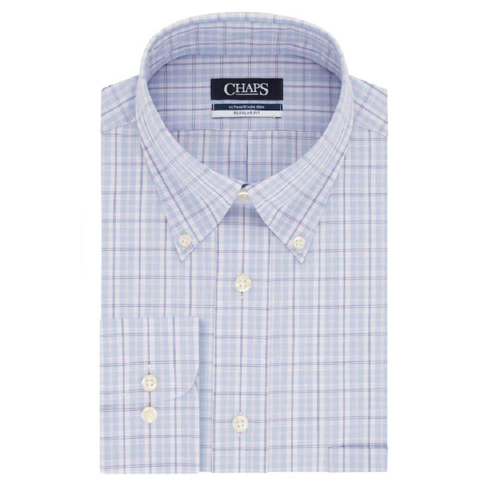 Chaps Mens Regular-Fit Non-Iron Stretch Button-Down Collar Dress ...