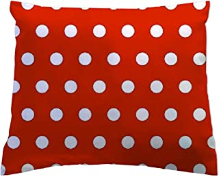 product image for SheetWorld - Toddler Pillowcase Hypoallergenic Made in USA - Polka Dots Red 13 x 17