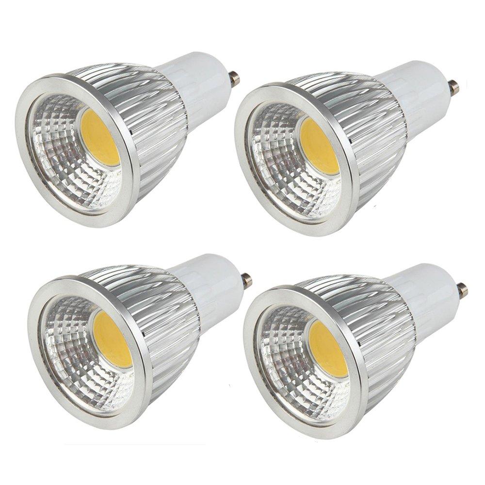 modoao 4パックgu10 110 V COB電球LED投光照明ランプ調光機能付きRecessed家照明デイライト L B06ZYXTF6R 14310 L|クールホワイト クールホワイト L