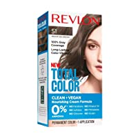 Revlon Total Color Permanent Hair Color, Clean and Vegan, 100% Gray Coverage Hair...