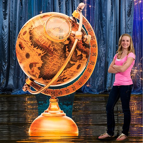 Around The World Globe Standee Cutout Standup Photo Booth Prop Background Backdrop Party Decoration Decor Scene Setter Cardboard Cutout