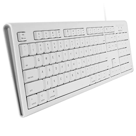 Macally Full-Size USB Wired Keyboard for Mac Mini/Pro, iMac Desktop on