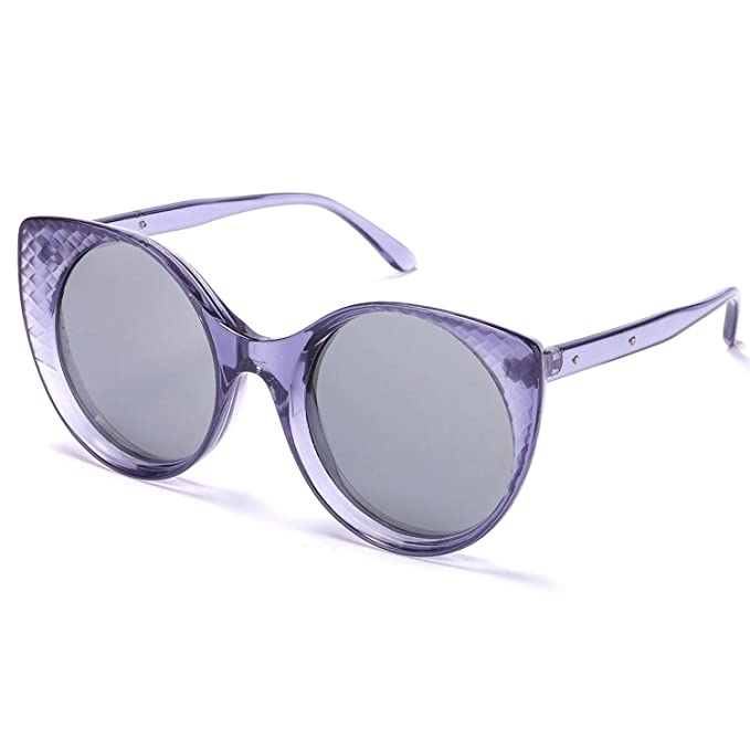 45189f1652 SODQW Gafas de Sol Mujer Gato Ojos Espejo Polarizadas,Vintage Retro Estilo  Lente Plana 100