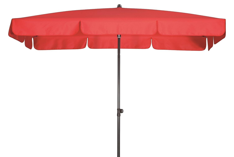 Absolut wasserdichter Gartenschirm Waterproof 225x120 von Doppler mit UV-Schutz 80, Farbe rot