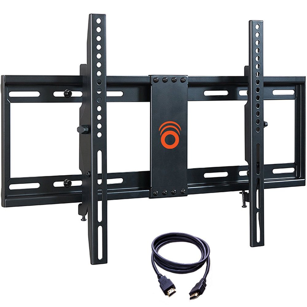 ECHOGEAR Tilting Low Profile TV Wall Mount Bracket for 32-70 inch TVs - Up to 15 Degrees of Tilt for LED, LCD, OLED and Plasma Flat Screen TVs with VESA patterns up to 600 x 400 - EGLT1-B2