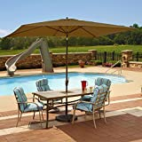 Island Umbrella NU5433SS Adriatic Rectangular Market Umbrella Sunbrella Acrylic, 6.5' x 10', Stone