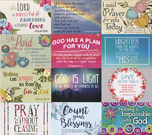 - Pass It on Inspirational and Uplifting Message Cards with Scripture - Package of 24 Assorted Cards (Bible Verses)