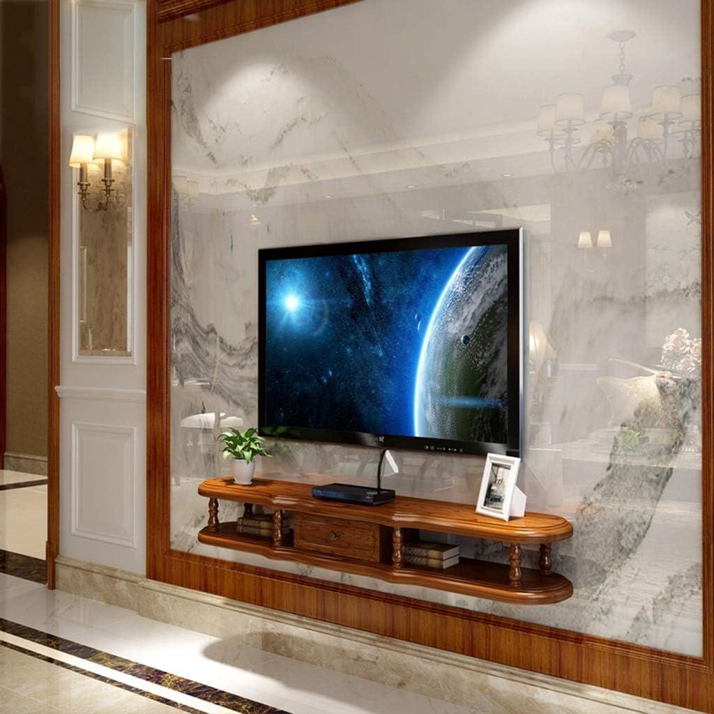 LXYFMS Mueble de Estante para TV montado en la Pared Estante de Juegos de Consola de Entretenimiento Multimedia con Muebles de cajones Bastidor de enrutador (Color : C, Size : 140cm): Amazon.es: