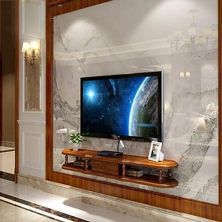 LXYFMS Mueble de Estante para TV montado en la Pared Estante de Juegos de Consola de Entretenimiento Multimedia con Muebles de cajones Bastidor de enrutador (Color : C, Size : 120cm): Amazon.es:
