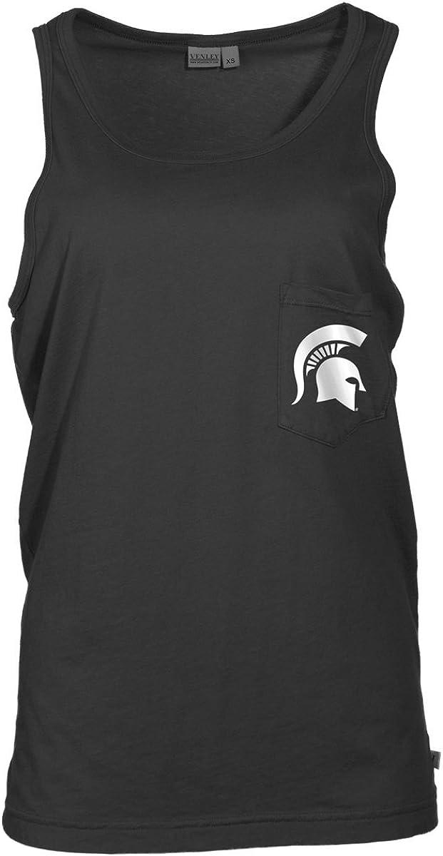 Official NCAA Michigan State University Spartans MSU Sparty Womens Tonal Pocket Boyfriend Tank Top