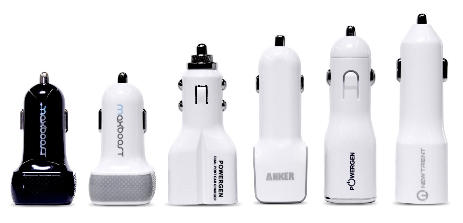 Car Charger, Maxboost 4.8A/24W 2 USB Smart Port Car Charger [White/Grey] For iPhone X 7 6S 6 Plus,SE 5S 5 5C,iPod,Galaxy S9 S8 S7 S6 Active,Note,LG G6 G5,HTC,Nexus 5X 6P,Pixel 2 XL,iPad Mini Air Pro by Maxboost (Image #4)