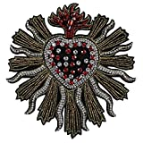 1piece Handmade Beaded Crystal Heart Rhinestones Design Patches Sew on Badge Applique Clothes Decorated Sewing Accessories TH579