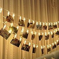 SUNNIOR 20 LED Foto Peg Clip cuerda luz