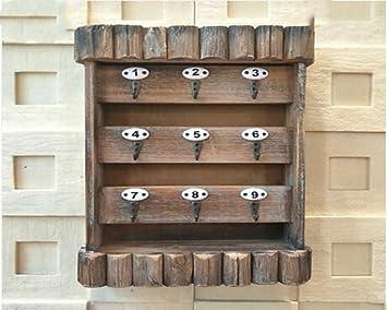 Bastidor en pared para crear ganchos colgantes puerta abrigo perchero tienda de ropa Retro de madera ...
