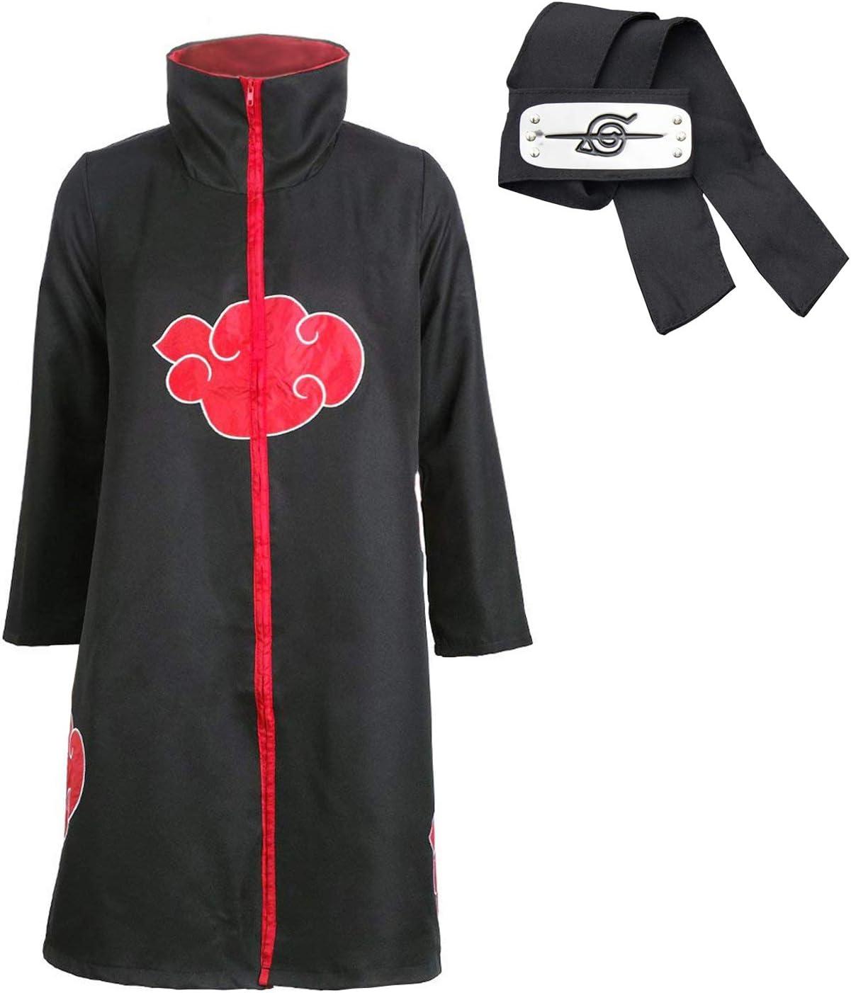 D.F.L Trajes de Akatsuki Cosplay Halloween Capa Larga Cosplay de los Akatsukis Itachi Vestido Akatsuki Cinta de Cabeza Venda para Cosplay Itachi Uchiha (XXS): Amazon.es: Productos para mascotas