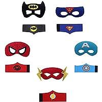 YUNFUN Máscaras de Superhéroe, Pulseras Superhéroe, Máscaras