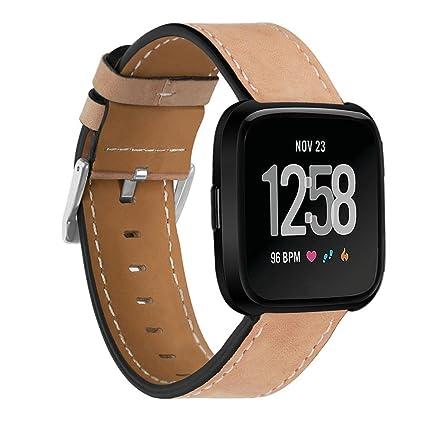 fitbit versa correa para smartwatch fitbit versa, 5.5-6.7 pulgadas de longitud banda de