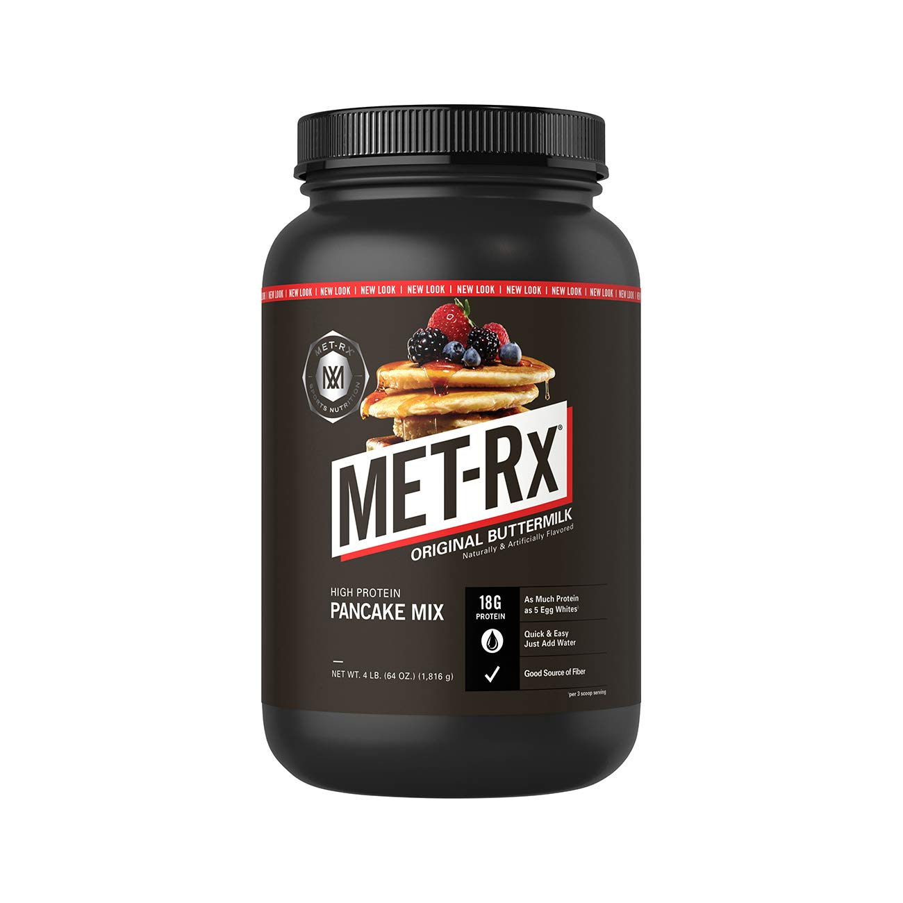 MET-Rx High Protein Pancake Mix, Original Buttermilk, 4 pound by MET-Rx
