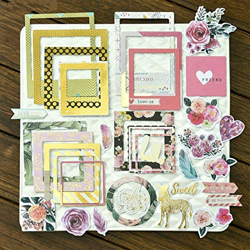 Die Cardstock Frames Cuts - 30pcs Photo Frames Colorful Cardstock Die Cuts for Scrapbooking Happy Planner Card Making Journaling Project