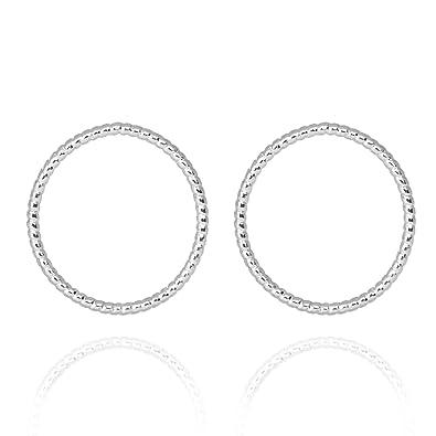 abwechslungsreiche neueste Designs große Auswahl an Farben 100% authentifiziert Tom Shot Berlin Ohrringe Damen Ring Silber Ohrstecker Kreis ...