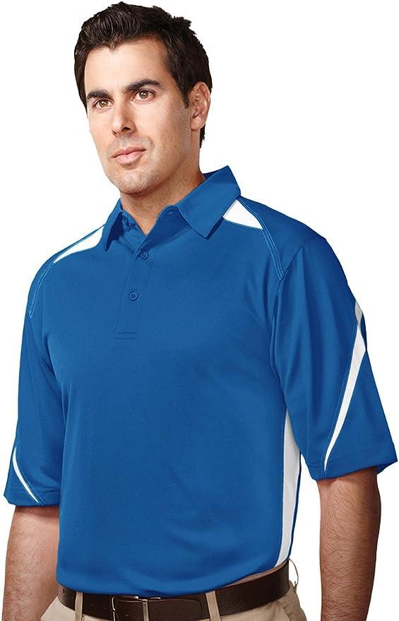 8 Colors,S-4XLT Mens Antimicrobial Short Sleeve Blitz Pocket Sports Polo Shirt