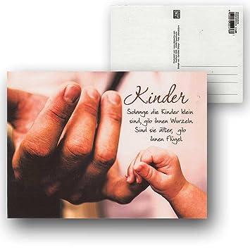 Cartolini Postkarte Karte Sprüche Zitate 15,5 x 11,5 cm Kinder