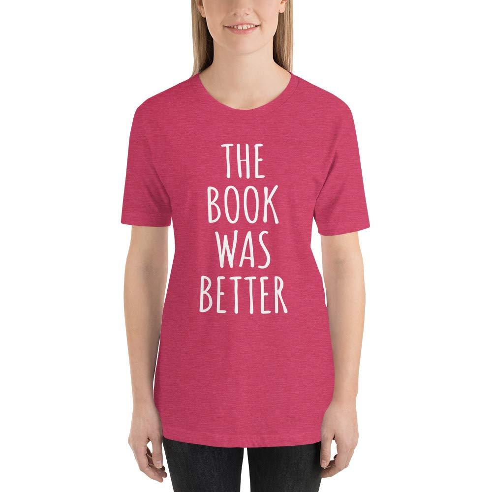 Kyandii The Book was Better Cute Reading Short-Sleeve Unisex T-Shirt