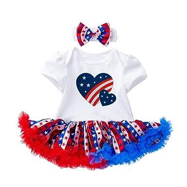 Amosfun Día de la Independencia Americana Camisa de Manga Corta ...