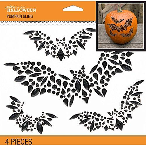 Jolee's Boutique 50-51086 Jolee's Bat Silhouettes Pumpkin Bling 4pcs (Halloween Pumpkin Silhouettes)