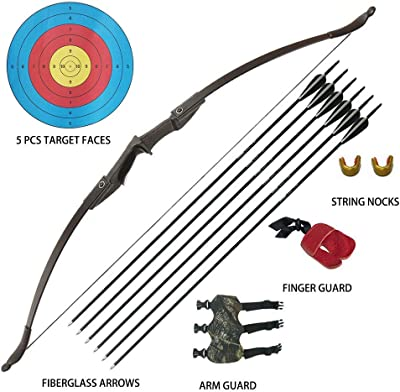 Tongtu Archery Recurve Bow and Arrow Set for Adults