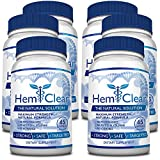 HemClear for Hemorrhoids - Vegan, 100% Natural Formula for Hemorrhoid Relief & Vascular Health - Maximum Strength 6 Bottles