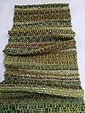 Circle shawl hand woven shawl hand spun yarn merino baby alpaca cashmere silk green scarf winter infinity shawl handweaving spinning