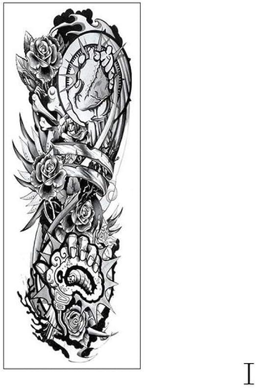 Handaxian 3 Piezas Etiqueta engomada del Tatuaje Brazo Completo ...