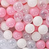 PlayMaty 100 Pieces Colorful Pit Balls Phthalate Free BPA Free Plastic Ocean Balls Crush Proof Stress Balls for Kids…