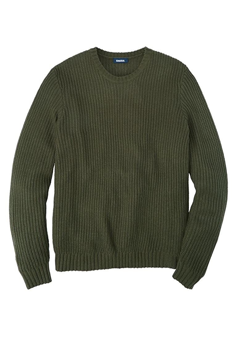 KingSize Men's Big & Tall Shaker Knit Crewneck Sweater