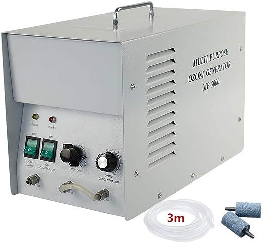 LIUQIGRASS Ozono Agua y purificador de Aire Comercial ozono generador 1G / H O3 Industrial Purificador de Aire Purificador de Agua Esterilizador de Desodorante ...
